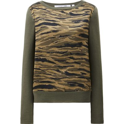 "<p>Eye of the tiger </p> <p>Merino blend combination sweater, $59.90 <a href=""http://www.uniqlo.com/au/store/women-carine-merino-blend-combination-sweater-1886880011.html"" target=""_blank"">Uniqlo</a></p>"