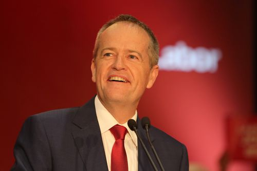 Mr Shorten makes an address during the campaign launch. (AAP)
