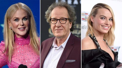 A large continent of Australians led by Margot Robbie, Nicole Kidman and Geoffrey Rush are up for Screen Actors Guild Awards in Los Angeles. (AAP)