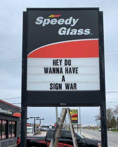 Canada's sign war