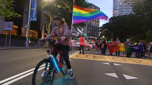 The streets came alive with colour in Sydney after the historic announcement.