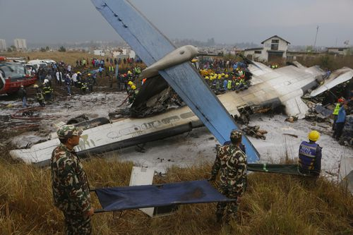 The plane was 'not aligned properly with the runway' when it landed. (AP)