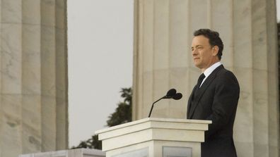 "Tom Hanks reads a quote from Abraham Lincoln during the ""We Are One"" event opening the 56th inauguration of President-elect Barack Obama and Vice President-elect Joseph R. Biden Jr. (Photo: Jan 2009)"