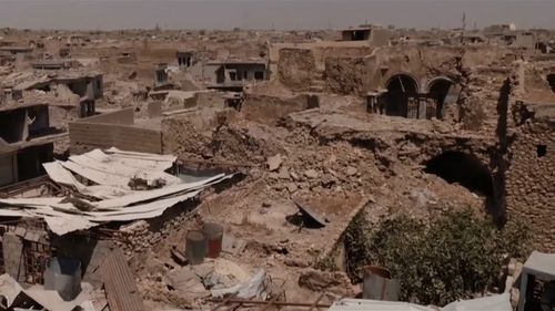 The country's second-largest city was ravaged in fighting between ISIS and Iraqi forces. Picture: 9NEWS