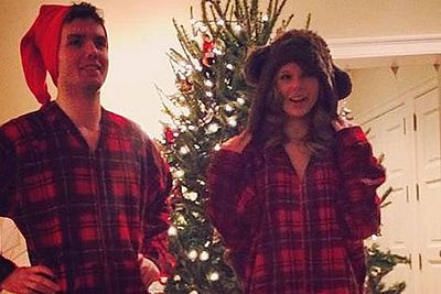 Dreaming of a plaid PJ Christmas with Taylor Swift.