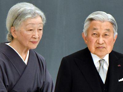 Emperor Akihito and Empress Michiko, 61 years