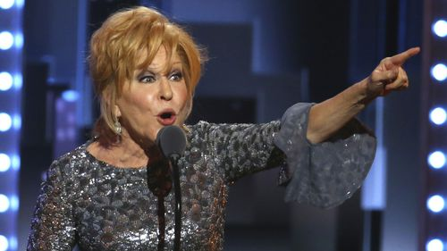 Bette Midler during her 2017 Tony acceptance speech.