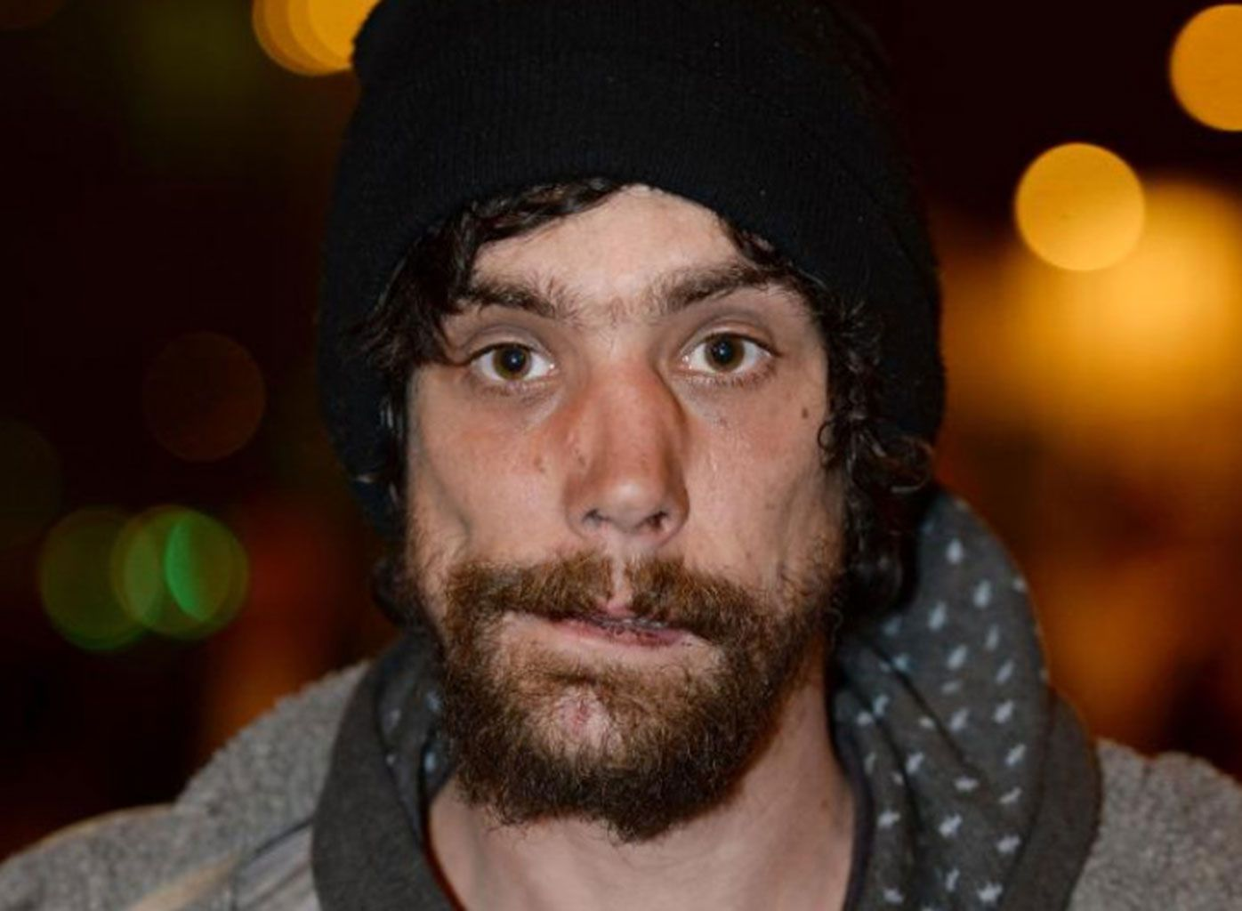 Homeless man Chris Parker was one of the first at the scene