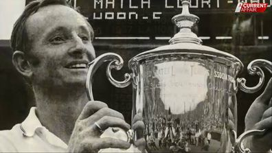 Laver won two grand slams - still an unbeaten record.