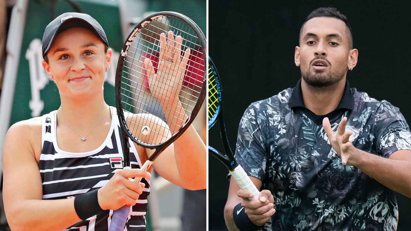 Ash Barty and Nick Kyrgios get tough Wimbledon draw