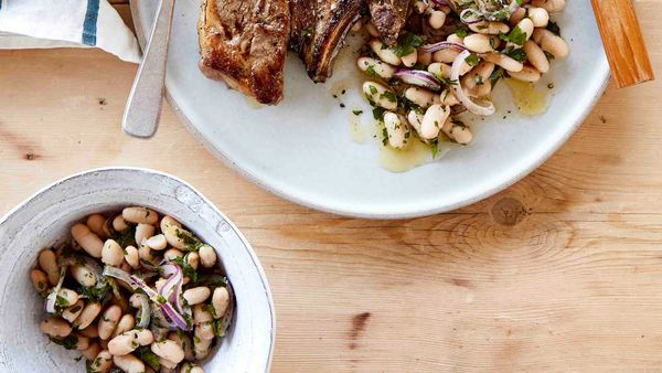 White bean salad for We Love Our Lamb