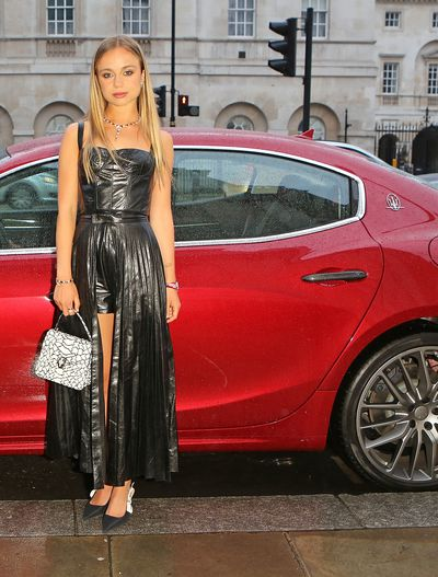 Lady Amelia Windsor in Christian Dior at a Bvlgari Gala Dinner in London, May, 2018