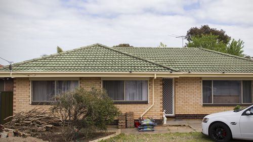 The house where Louise Bell was allegedly taken by Dieter Pfennig through a window in Hackham West South of Adelaide. (AAP)