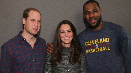 'King James' breaks royal protocol with friendly photo of Kate and William