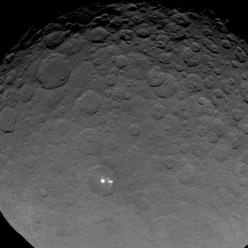 The Dawn spacecraft is the first probe to ever visit the dwarf planet Ceres. (NASA/JPL)