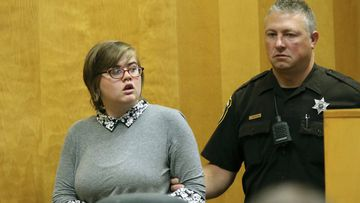 Sept. 29, 2017, file photo, Morgan Geyser, one of two Wisconsin girls charged with stabbing a classmate multiple times in 2014 to impress the fictitious horror character Slender Man.