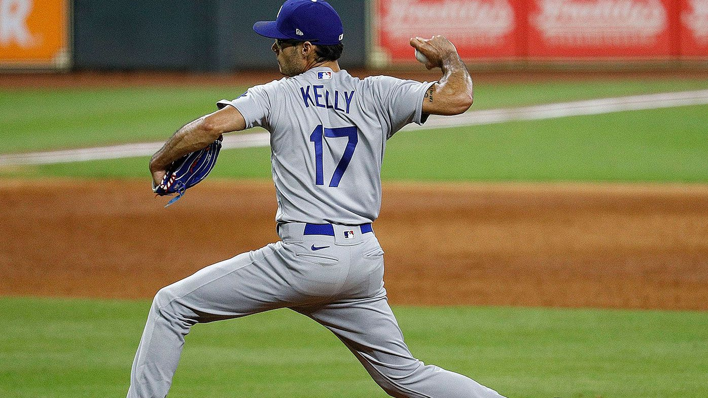 Joe Kelly pitching against the Houston Astros.