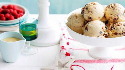 Christmas pudding semifreddo