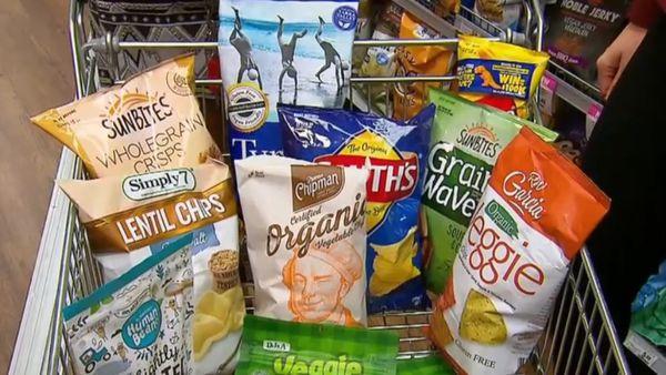 Unhealthy supermarket snacks