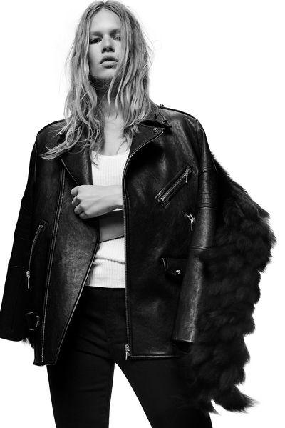 "<p><a href=""http://www.alexanderwang.com/au/shop/women/jackets-and-outerwear-jackets-and-outerwear-moto-leather-jacket_cod41592390el.html"" target=""_blank"">Jacket, approx. $4570, Alexander Wang</a></p>"