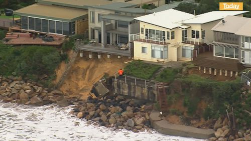 One homeowner lost his balcony to erosion.