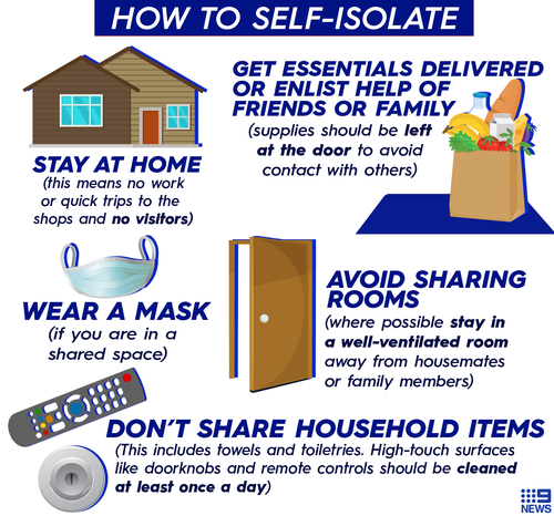 Tips for self-isolation as the coronavirus spreads.