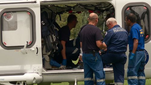He was airlifted to St George Hospital in a serious but stable condition. (9NEWS)