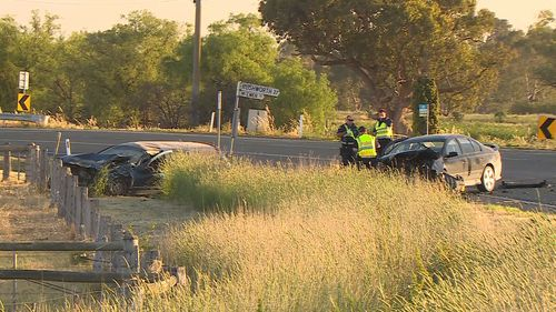 A pregnant woman has given birth after being involved in a crash.