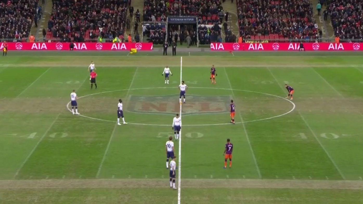 Football: Shonky pitch headlines Tottenham vs Manchester City after NFL London