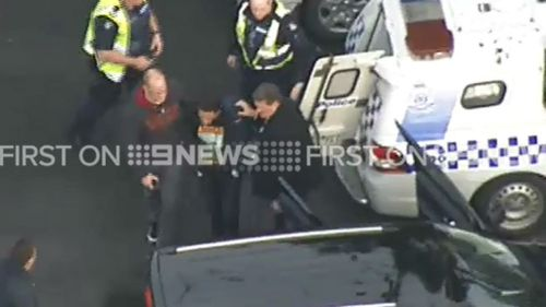 He was wanted over the alleged murder of a man on Monday morning. (9NEWS)
