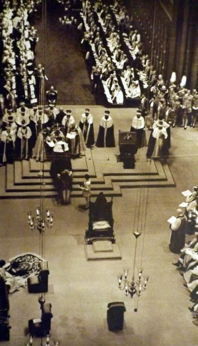 The coronation at Westminster Abbey, London