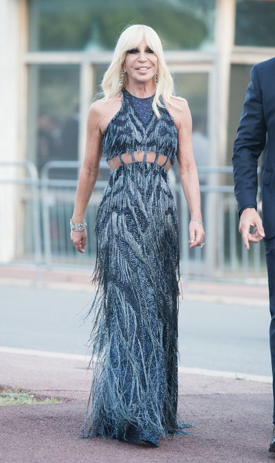 Donatella Versace at Fashion Relief, Cannes