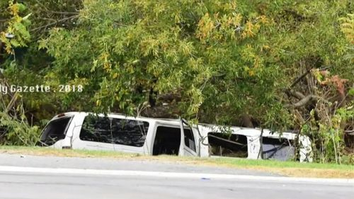 The limo ran an intersection in Schoharie and crashed on the weekend.