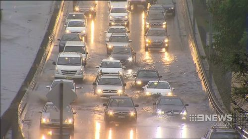 People should not drive into flood water. (9NEWS)