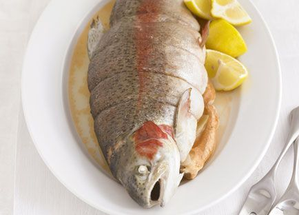 Poached ocean trout