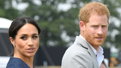 Meghan and Harry walking