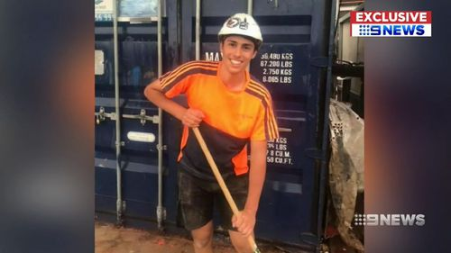 Christopher Cassanti, 18, was killied working at a Macquarie Park construction site last month.