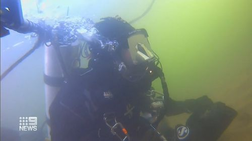 He is trying to break a world record spending 24 hours underwater.