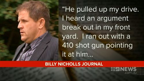 Billy Nicholls' personal journal was tendered to the court. (9NEWS)
