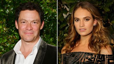 Lily James and Dominic West.
