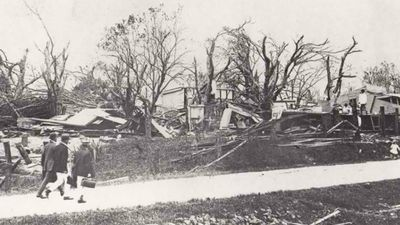 In March of the same year, an unnamed cyclone tore through Innisfail, reducing the town - which then contained 3500 people - to just 12 houses. The death toll reached 37, while about 50 others died in the surrounding districts. (Supplied)