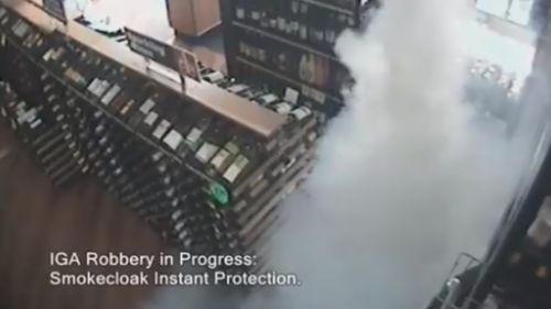 The Smokecloak in action at a liquor store. (Smokecloak)