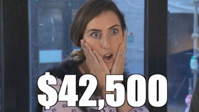 Jimmy and Tam's prize money brought to you by Jasmin's shocked expression. The Block 2020