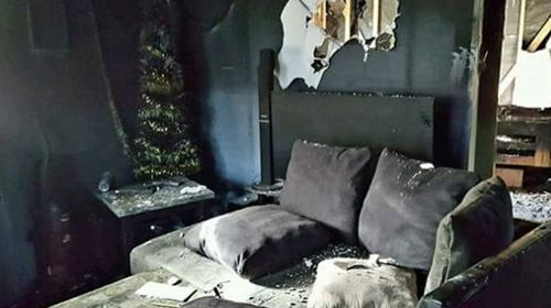 A family lost their home after a hoverboard toy caught fire and the flames spread. (Photo: GoFundMe)