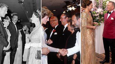 Royals meeting James Bond stars