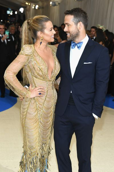 Blake Lively and Ryan Reynolds at the <em>Rei Kawakubo/Comme des Garcons: Art Of The In-Between</em> Costume Institute Gala at Metropolitan Museum of Art on May 1, 2017 in New York City