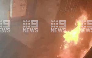 CCTV captures arsonist setting Glenroy gym alight