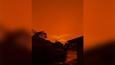 <br> An orange sunset inRobertson, Brisbane. (Eli McGrath)