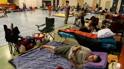 Inside the evacuation centre in Cooktown. (AAP)