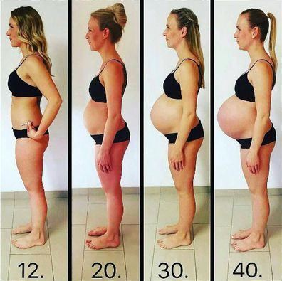 Growing pains: Pregnancy from 12 up to 40 weeks. Image:  Instagram/@mamaededuasoficial